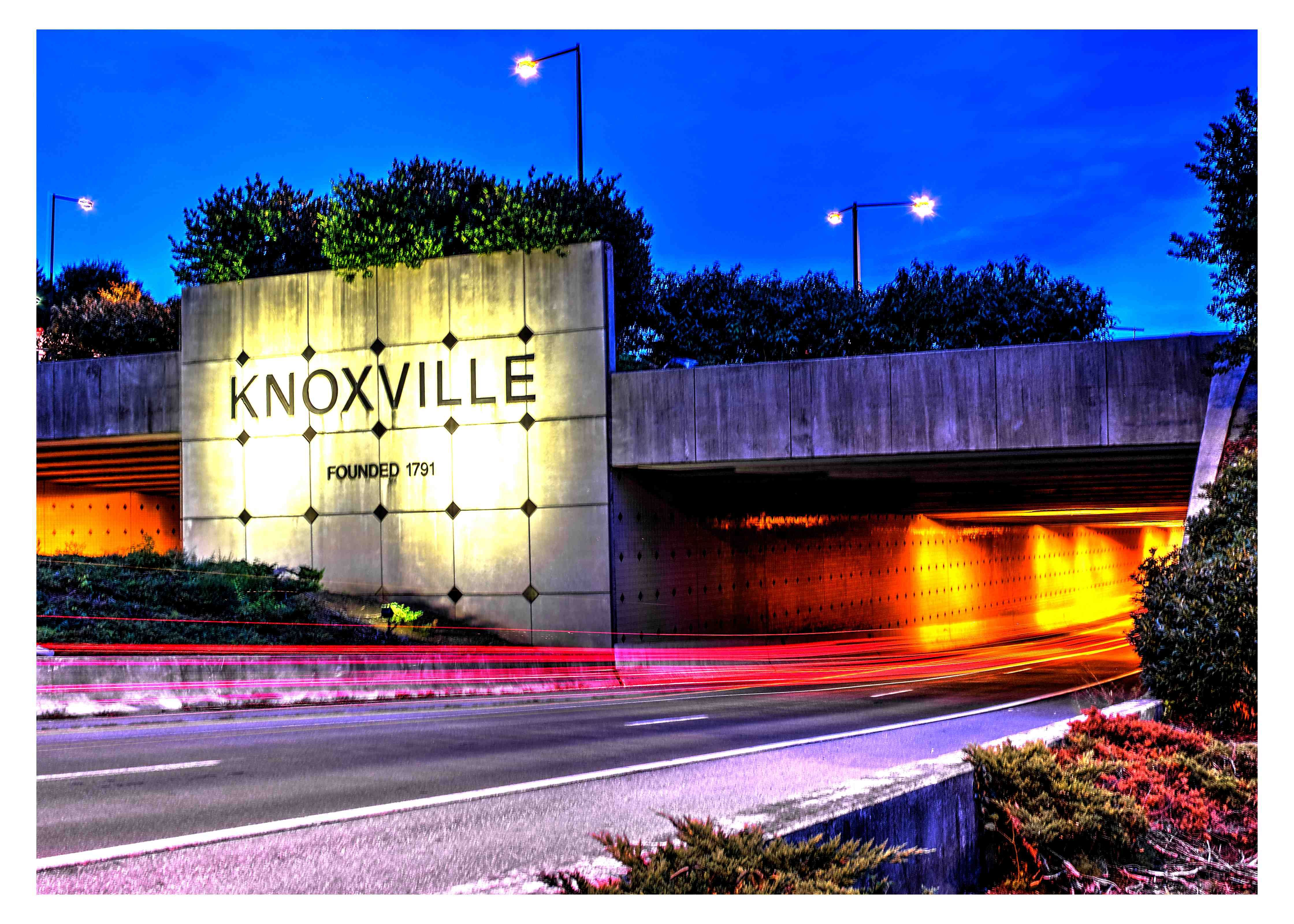 Wel e to Knoxville This is the entrance sign from the interstate