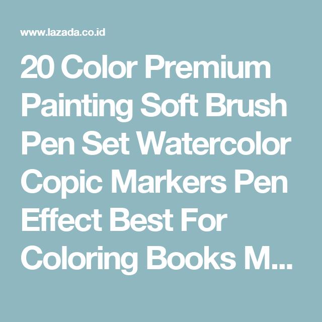 20 Color Premium Painting Soft Brush Pen Set Watercolor