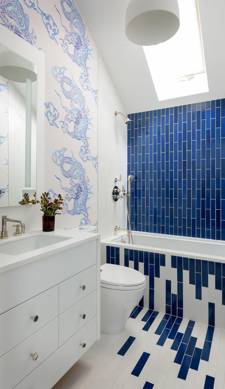 12 Blue Tile Bathroom Decorating Ideas In 2020 Leitz
