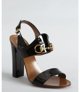 Gucci Vintage Black Brown Pumps $354