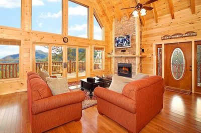 bedroom located in cabins manor cabin mountain gatlinburg patriot at mountains entrance a smoky exterior rentals rental front