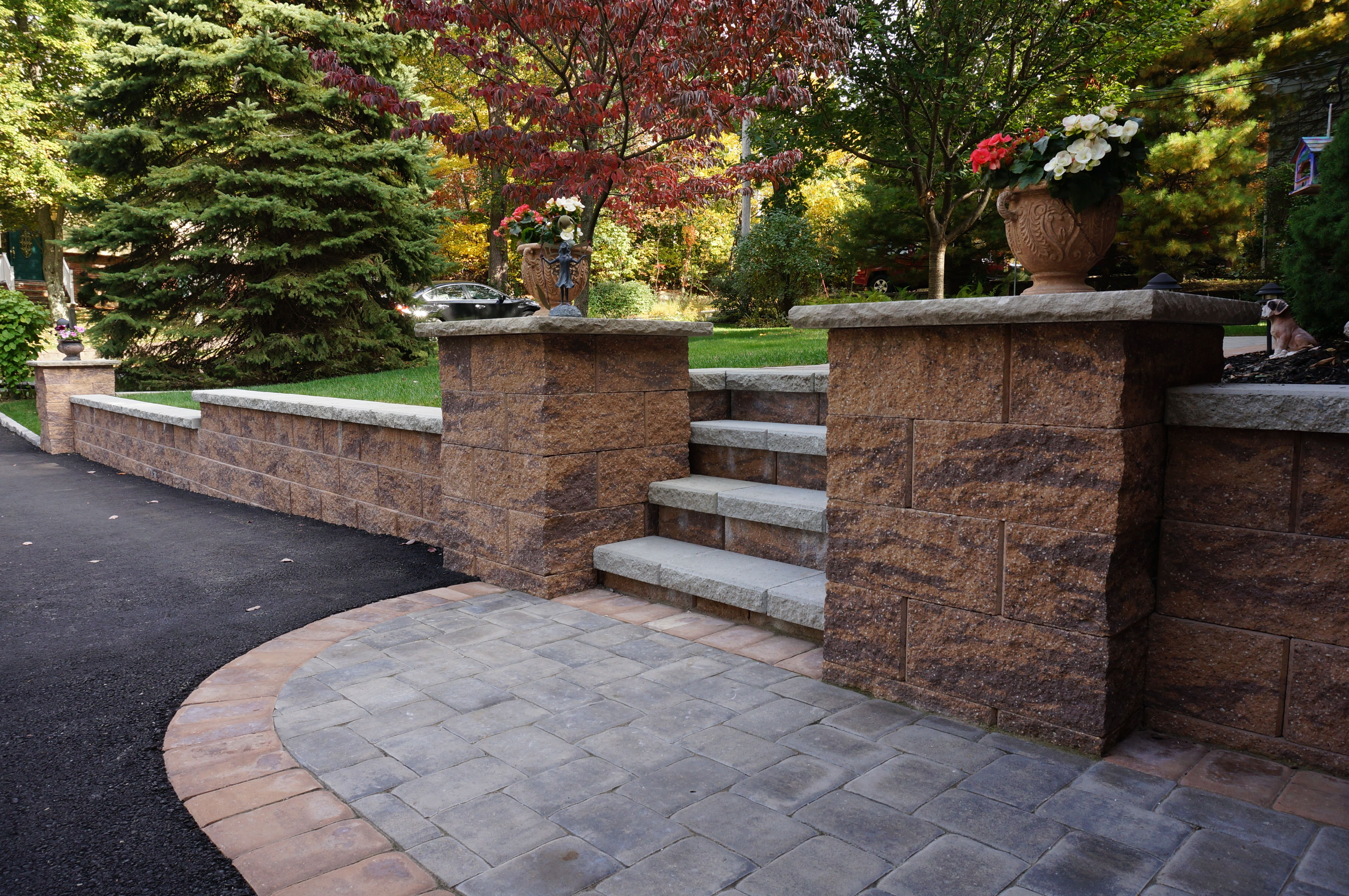 Cornerstone Columns Can Re Define The Entrance To Your Home Concrete Retaining Walls Retaining Wall Retaining Wall Blocks