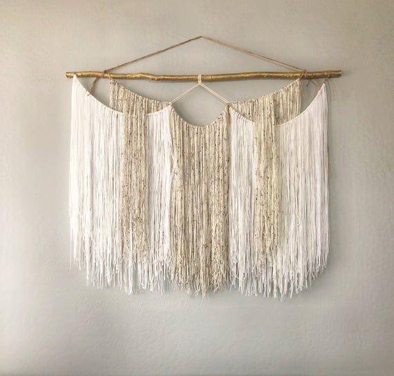 "Photo of Macrame Wall Hanging – Extra Large Macrame – Macrame Backdrop – Yarn wall hanging tapestry – Macrame Curtains ""Nicole"""