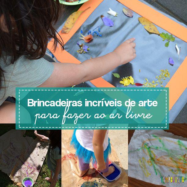 São 8 atividades com diferentes materiais para divertir as crianças. Basta uma caixa de papelão, ou uma folha de papel pardo e um pouco de tinta para você conseguir fazer atividades criativas bastante