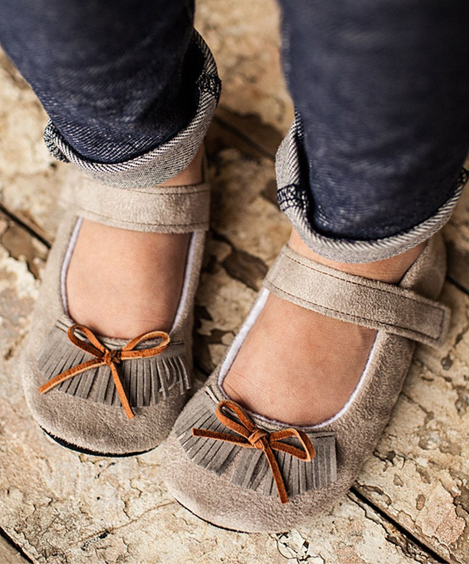 Look what I found on #zulily! Gracious May Gray Faux Suede Mary Jane by Gracious May #zulilyfinds