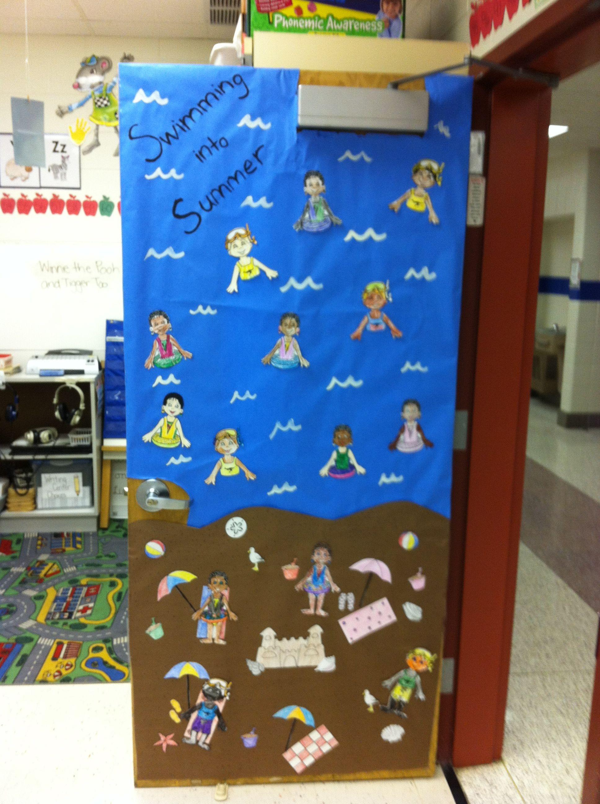 Amazing Summer Classroom Door Decorations Summer Door Decorations ;)   Lesson  Plans!   Pinterest  