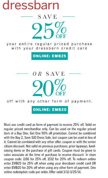 Pinned March 17th 20 Off At Dressbarn Or Online Via Promo Code Emb20 Coupon Via The Coupons App Free Printable Coupons Printable Coupons Coupons