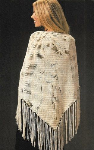 Y019 Crochet Pattern Only Blessed Mother Prayer Shawl A Stitch In