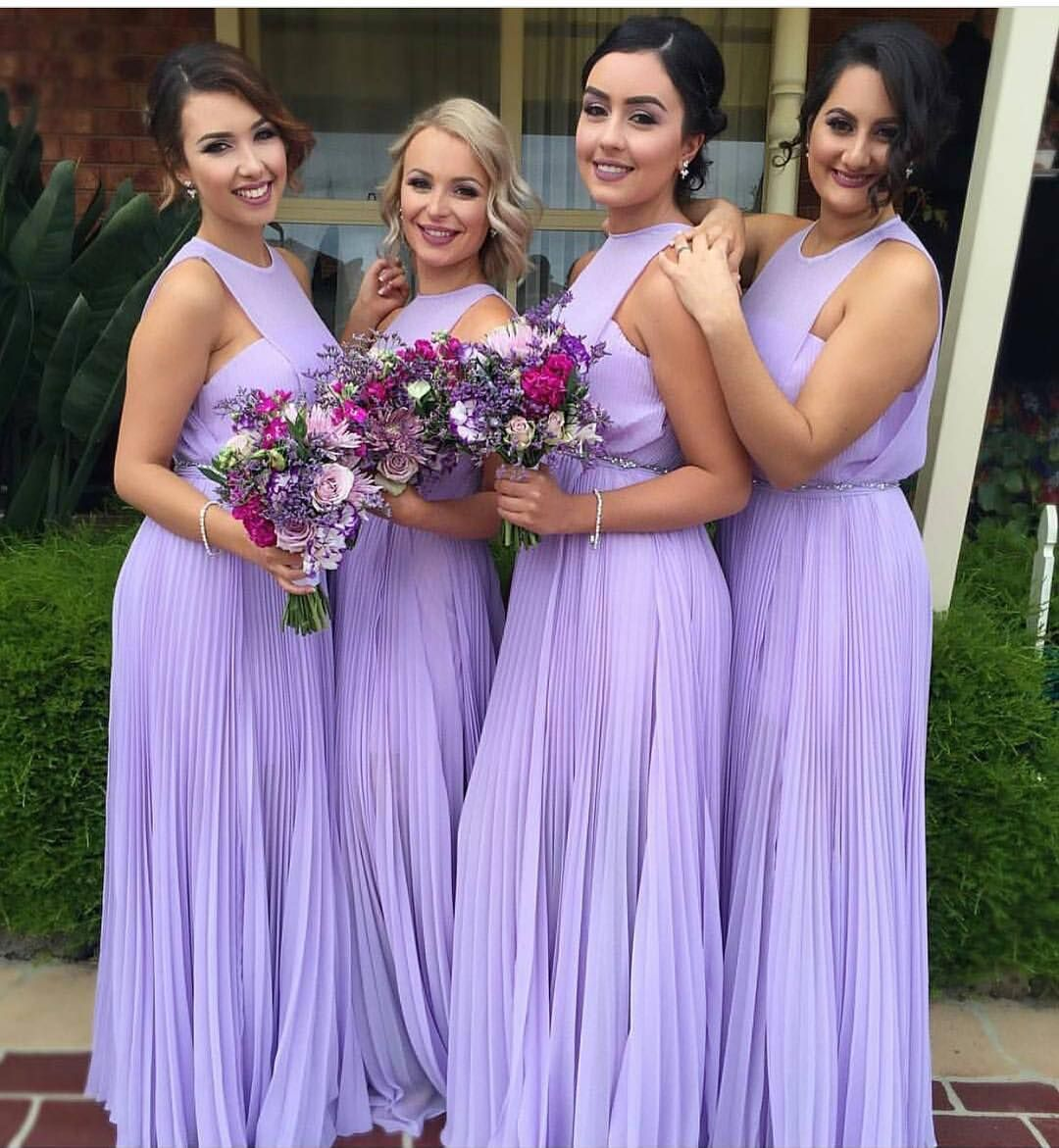 Lavender bridesmaid dress; bridesmaid dresses; purple bridesmaid ...