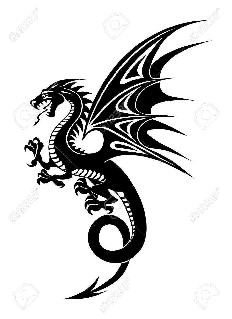 r sultat de recherche d 39 images pour dessin de dragon tribal tatouage pinterest dessins. Black Bedroom Furniture Sets. Home Design Ideas