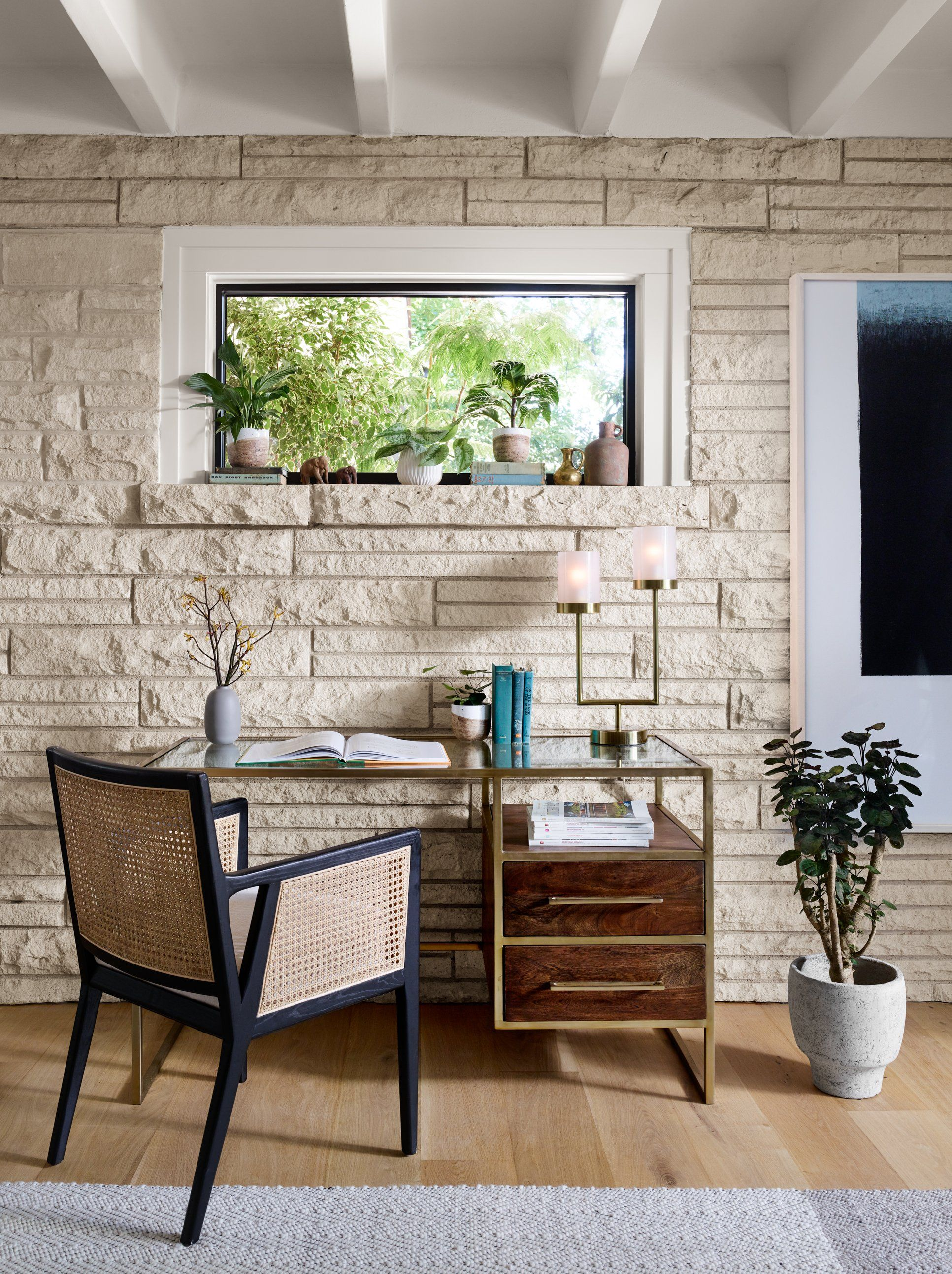 Photo of Anna Cane and Black Wood Dining Chair