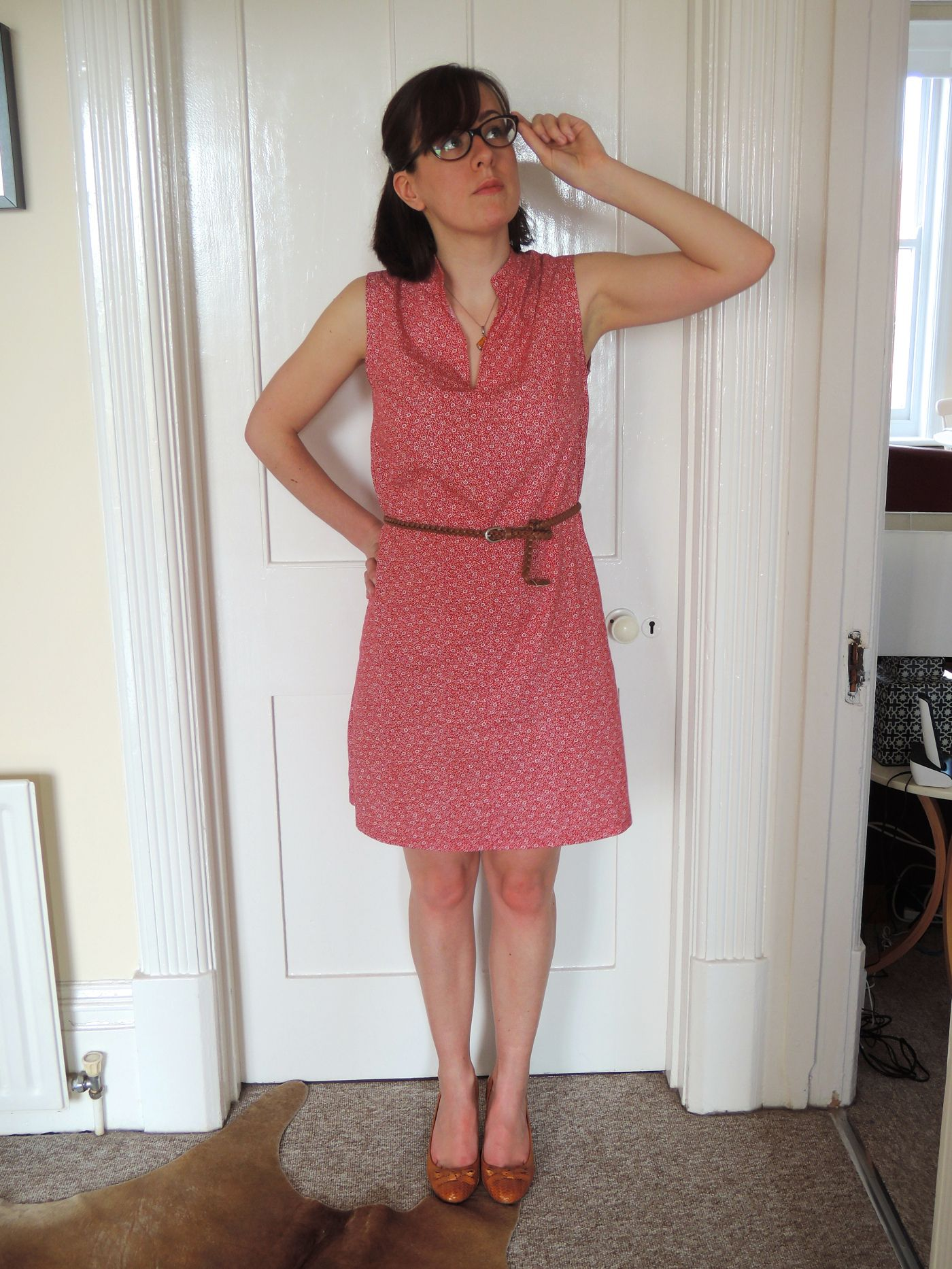 I made a summery Salme buttonless shirt dress in February, although ...
