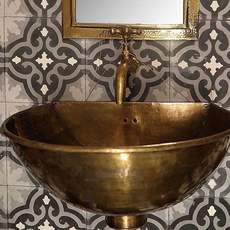 Brass Patina Basin Wall Hung Brass Patina Basin Copper Brass