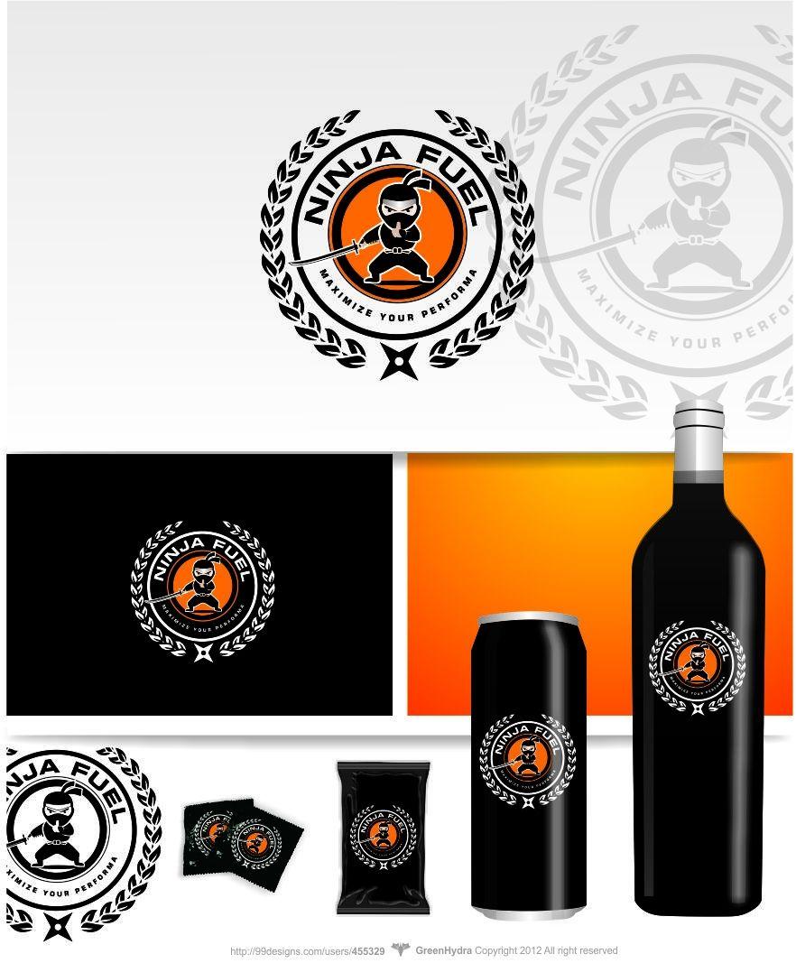 Logo design by GreenHydra™ #POTD99 10.22.2013 #ninja #ivy #crest