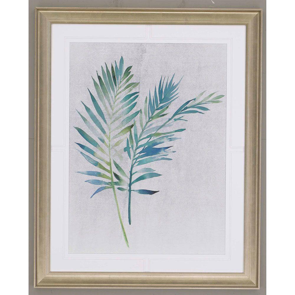 ParrThe Jardine Watercolor Palms II Framed Art features a beautiful ...