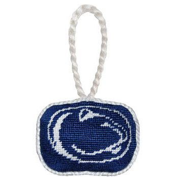 Penn State Needlepoint Christmas Ornament in Navy by Smathers & Branson