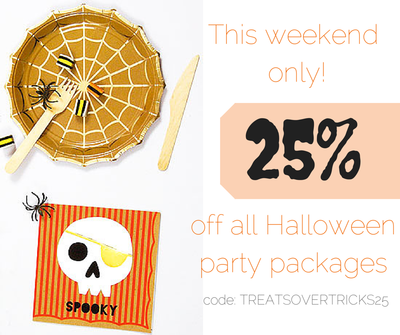 Halloween Party Packages.Yellow Pinwheels Your Perfect Party In A Package Pinwheels Party Halloween Party Supplies Party Packages