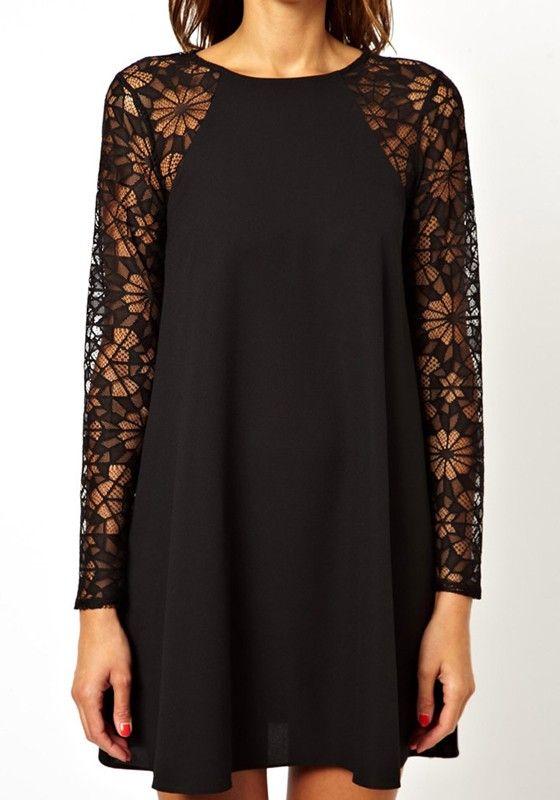 Long sleeve nylon dress