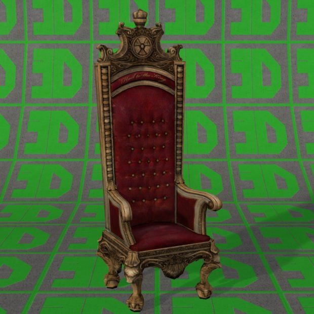 Duke Throne 3d Model Obj Dae 3d Model Throne Model