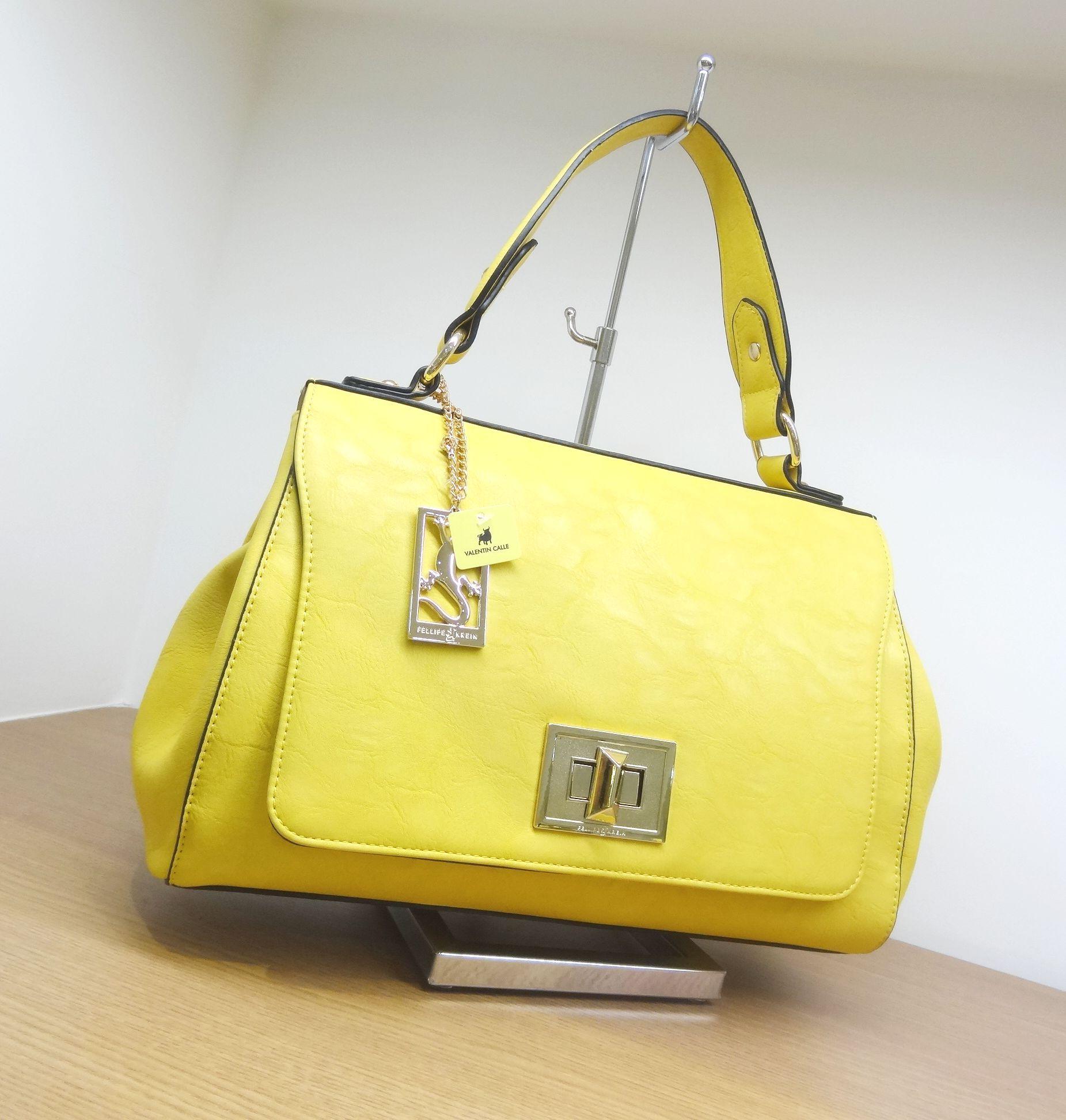 5c402c26e Bolsa Moderna Amarela Fellipe Krein em Loja Valentin Calle.   Bolsas ...