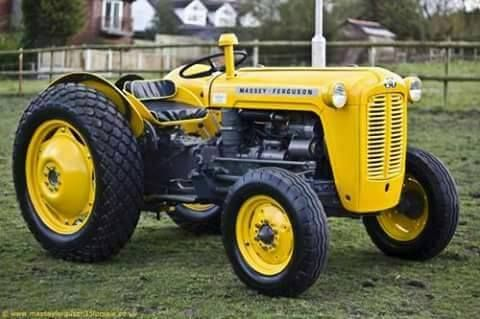 How Do You Like This Masseyferguson Tractor In Yellow Which Mf