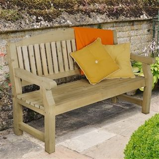 much like the harvington love seat the harvington bench adds wooden garden seating to your - Wooden Garden Furniture Love Seats