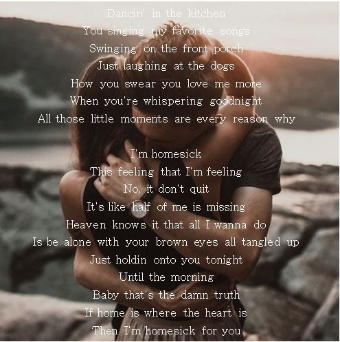 Kane Brown Homesick Country Love Songs Country Music Lyrics