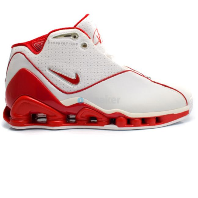 big sale 4b025 0e9e5 Nike Shox Vince Carter 2 White Red