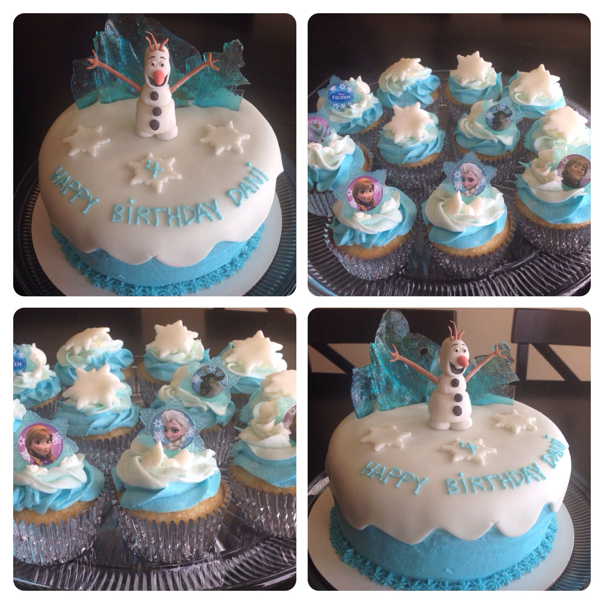 Frozen Cake Olaf Birthday Cupcakes Cakes by Me Pinterest