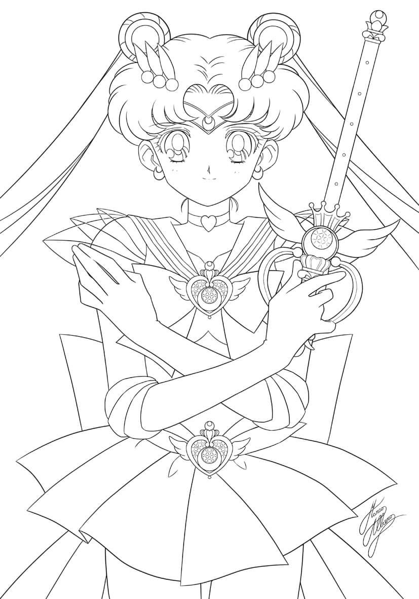 Sailor moon coloring pages image by Kylie Heber on Anime