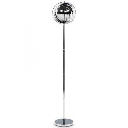 Lampe Sur Pied Design Touraco Big En Acier Chrome Chrome Lampe Sur Pied Design Lampadaire Lampe