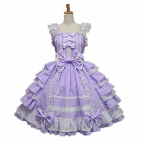 Petite Plus Size Women Lavender Sweet Lolita Fashion Dress Custom