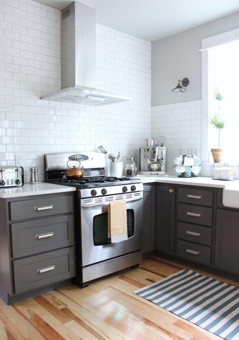 Cuisine Avec Parquet Gris cuisine gris et bois en 50 modèles variés pour tous les