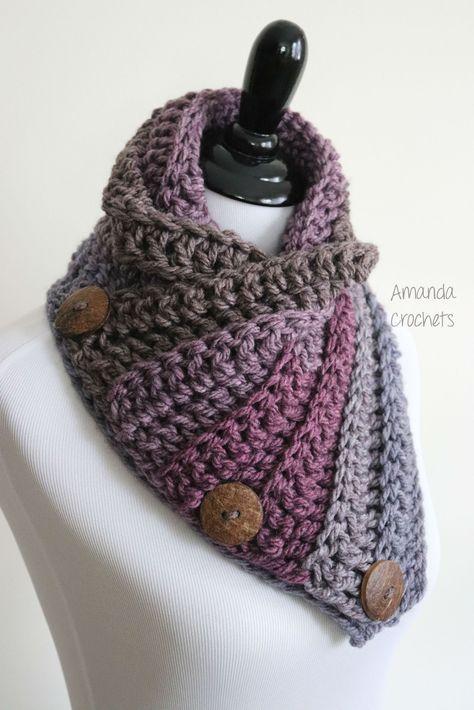 3 button cowl   stricken   Pinterest   Crochet, Yarns and Patterns