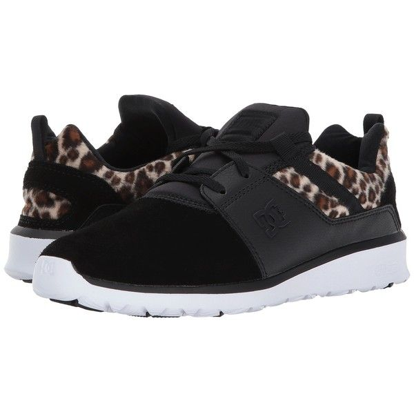 DC Heathrow SE (Animal) Women's Skate Shoes ($70) ❤ liked on Polyvore featuring shoes, toe cap shoes, toe cap skate shoes, skate shoes, animal shoes and lightweight shoes