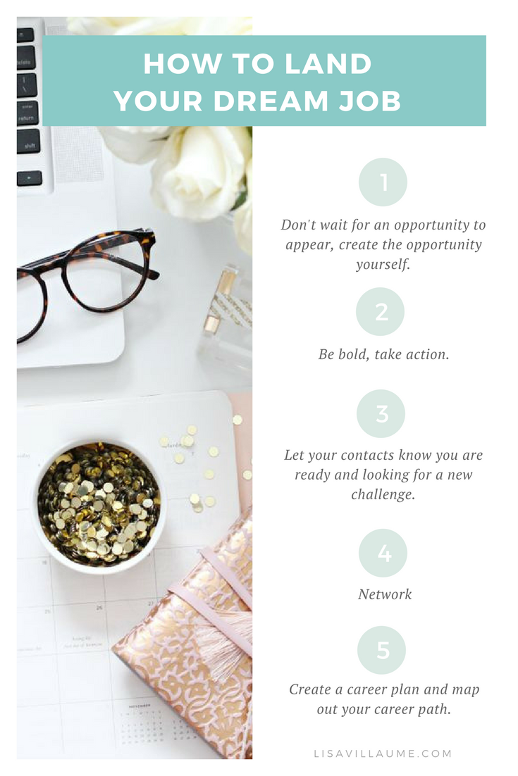 How to land your dream job in 5 simple steps dream job mindset how to land your dream job in 5 simple steps lisa villaume forumfinder Choice Image