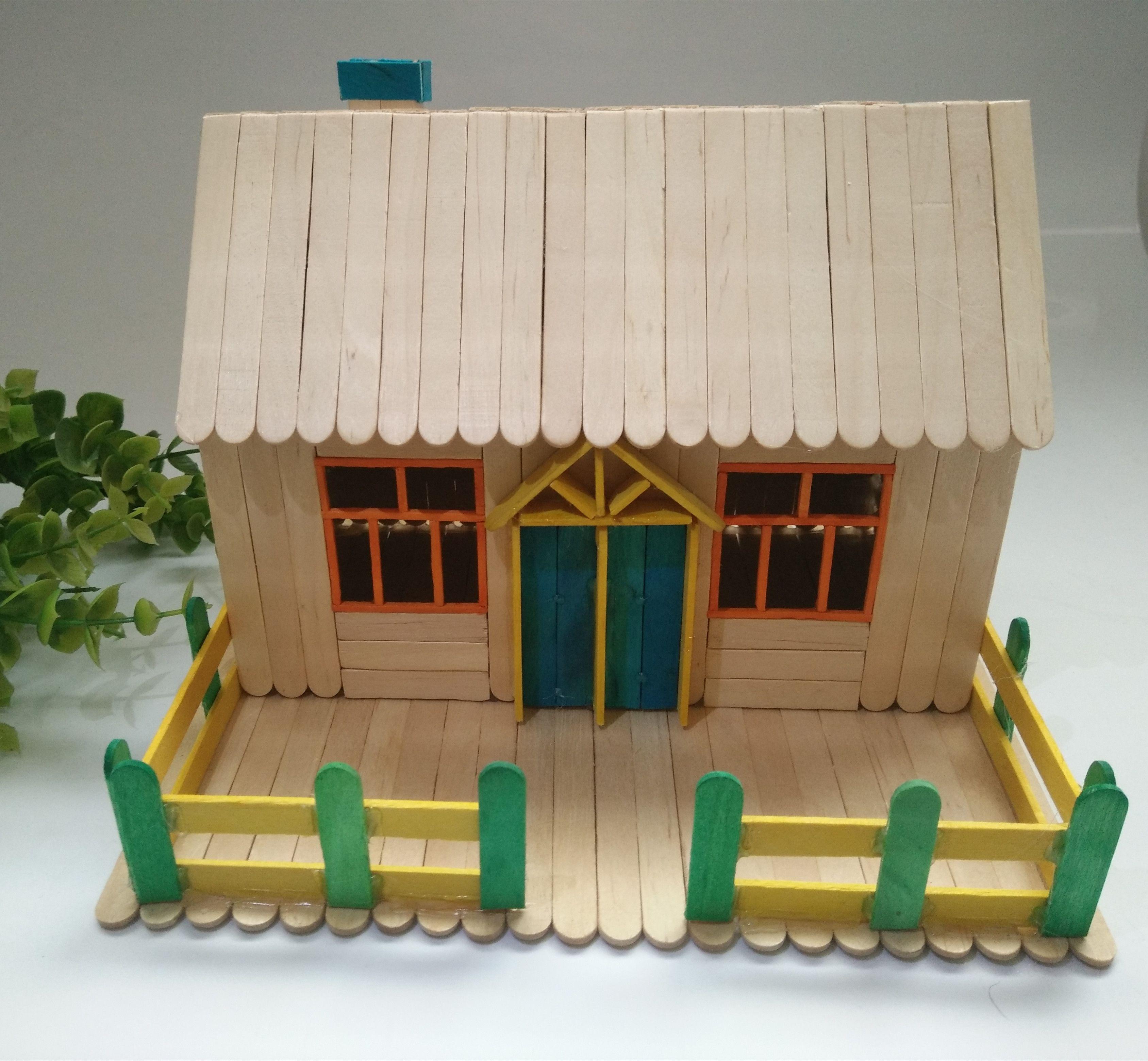 Ice Cream Stick Handmade Model Wood Products Making Diy Ice