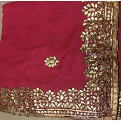 Pretty Deep Pink Gota Patti Saree | Rajasthani Gota Patti Embroidery | Pinterest | Saree ...