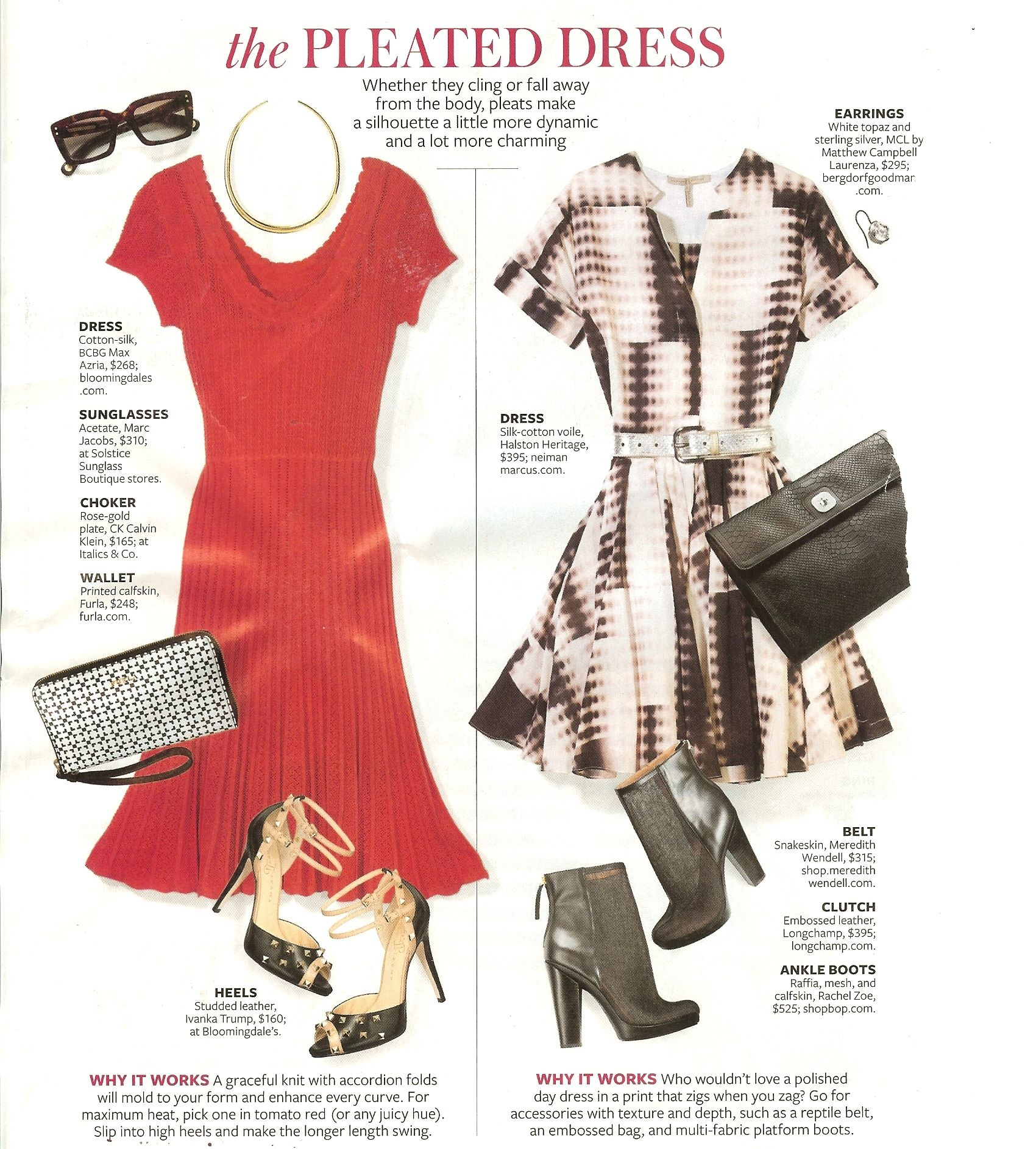 Dresses- (from In Style Magazine)