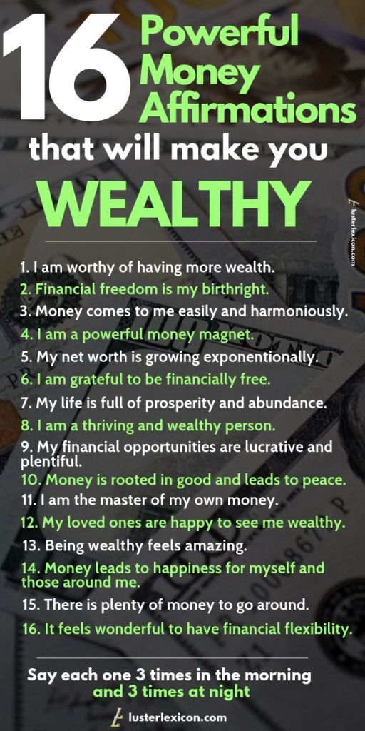 16 Powerful Money Affirmations that will Make You Wealthy - Luster Lexicon