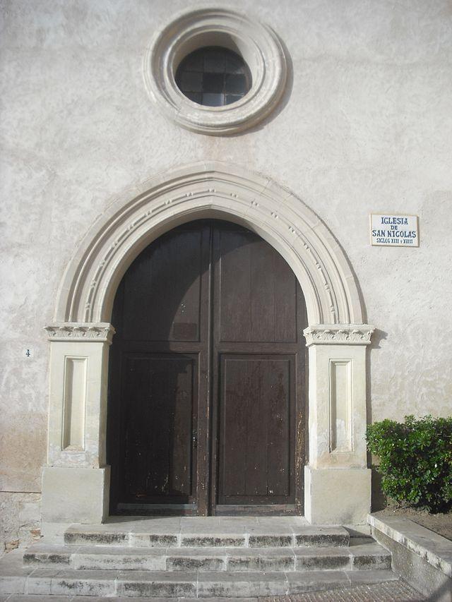Cuenca Iglesia de San Nicolás. Portada