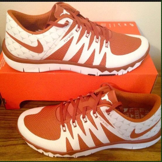 d077d33b063d0 8.5 Mens NIKE Free Trainer 5.0 V6 AMP Texas Longhorns Shoes 723939-800