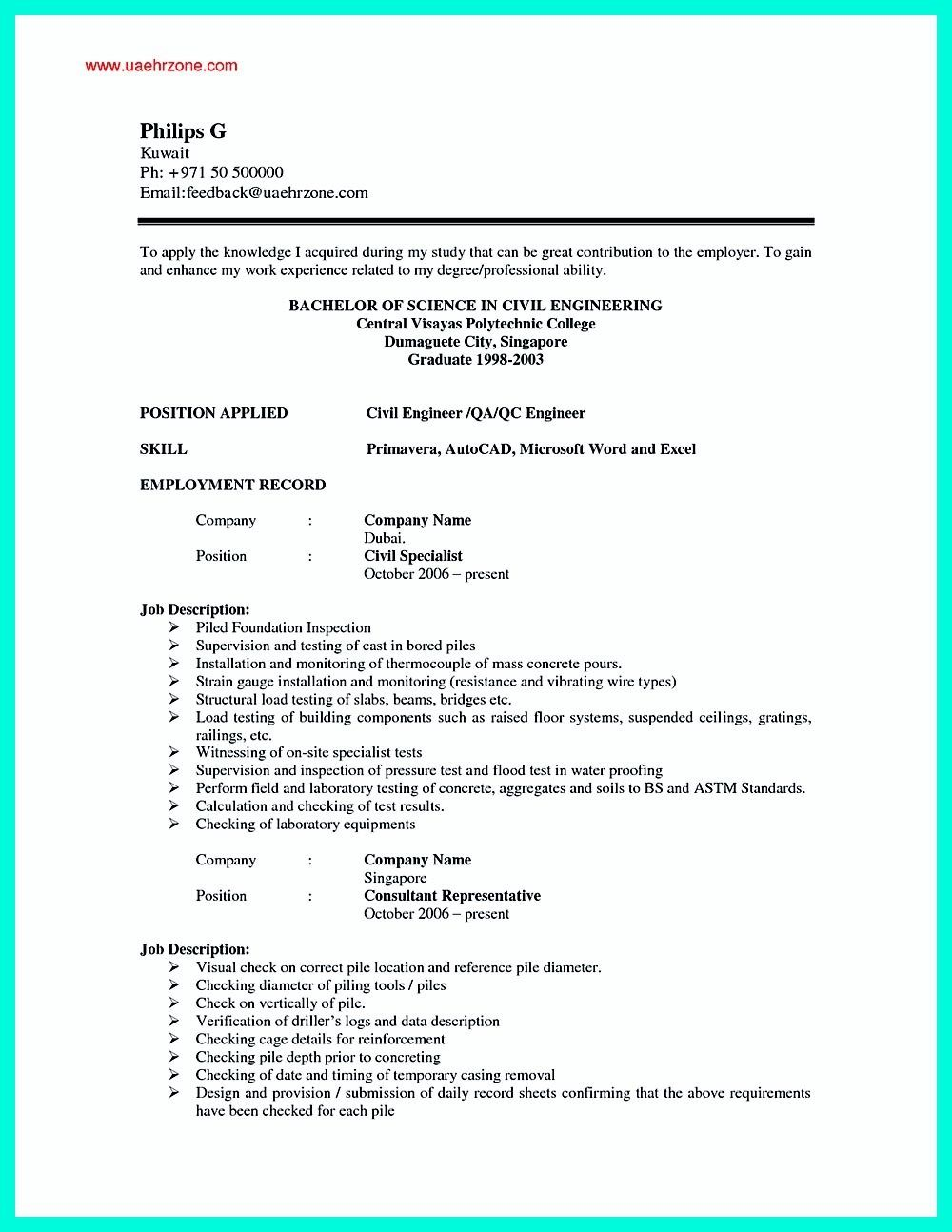 Astounding Good Resume Format Examples Resumes For Job Application
