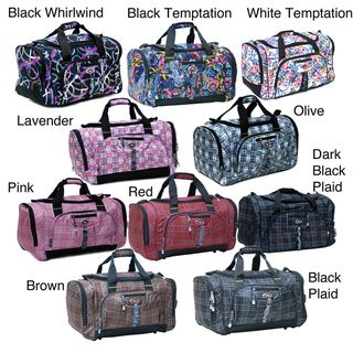 9cd182b4c293 CalPak Hollywood Plaid 22 Inch Carry On Duffel Bag