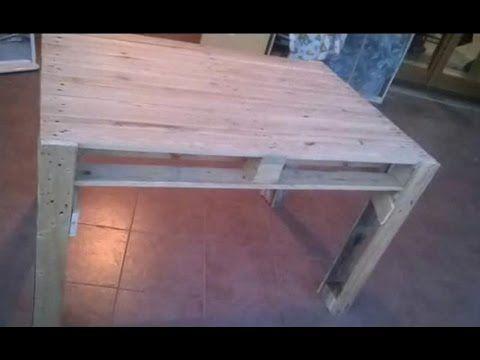 COSTRUIRE UN TAVOLO CON I PALLETS - How make a table with pallets ...