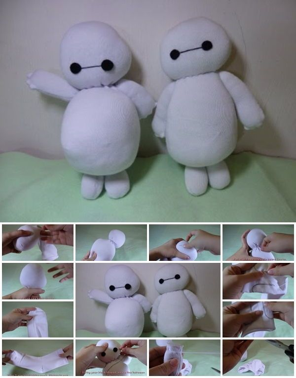 How to Make Baymax Sock Plush