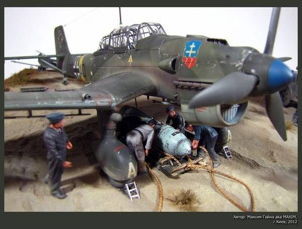 German Ju87B-2 STUKA. TAMIYA / ITALERI 1/48 scale. By Maxim Borisovich Goyna…