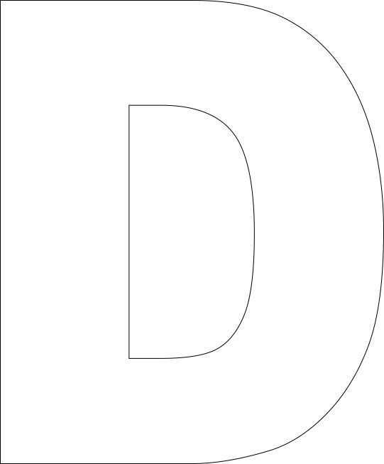 Canny image pertaining to letter d printable