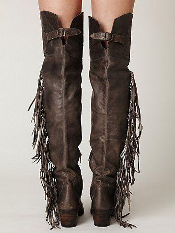 7b9949a49aa tall boots + fringe   yes please! Ash Austonian