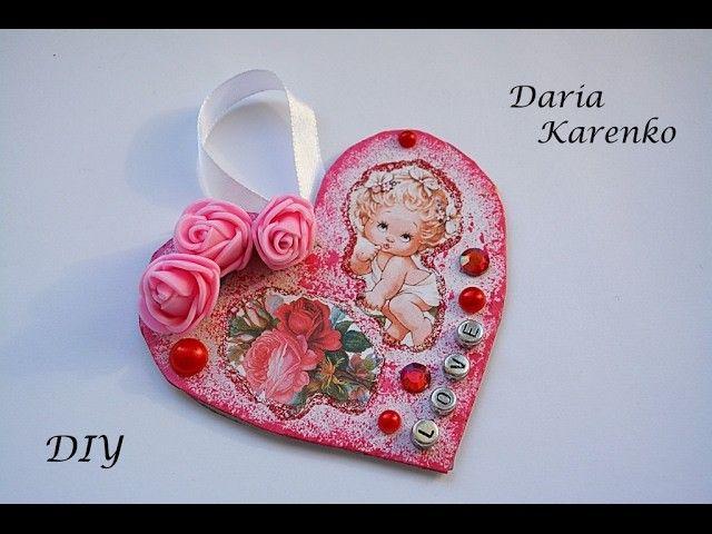 DIY Красивая валентинка за 5 минут. Мастер класс \ Valentines for 5 minutes